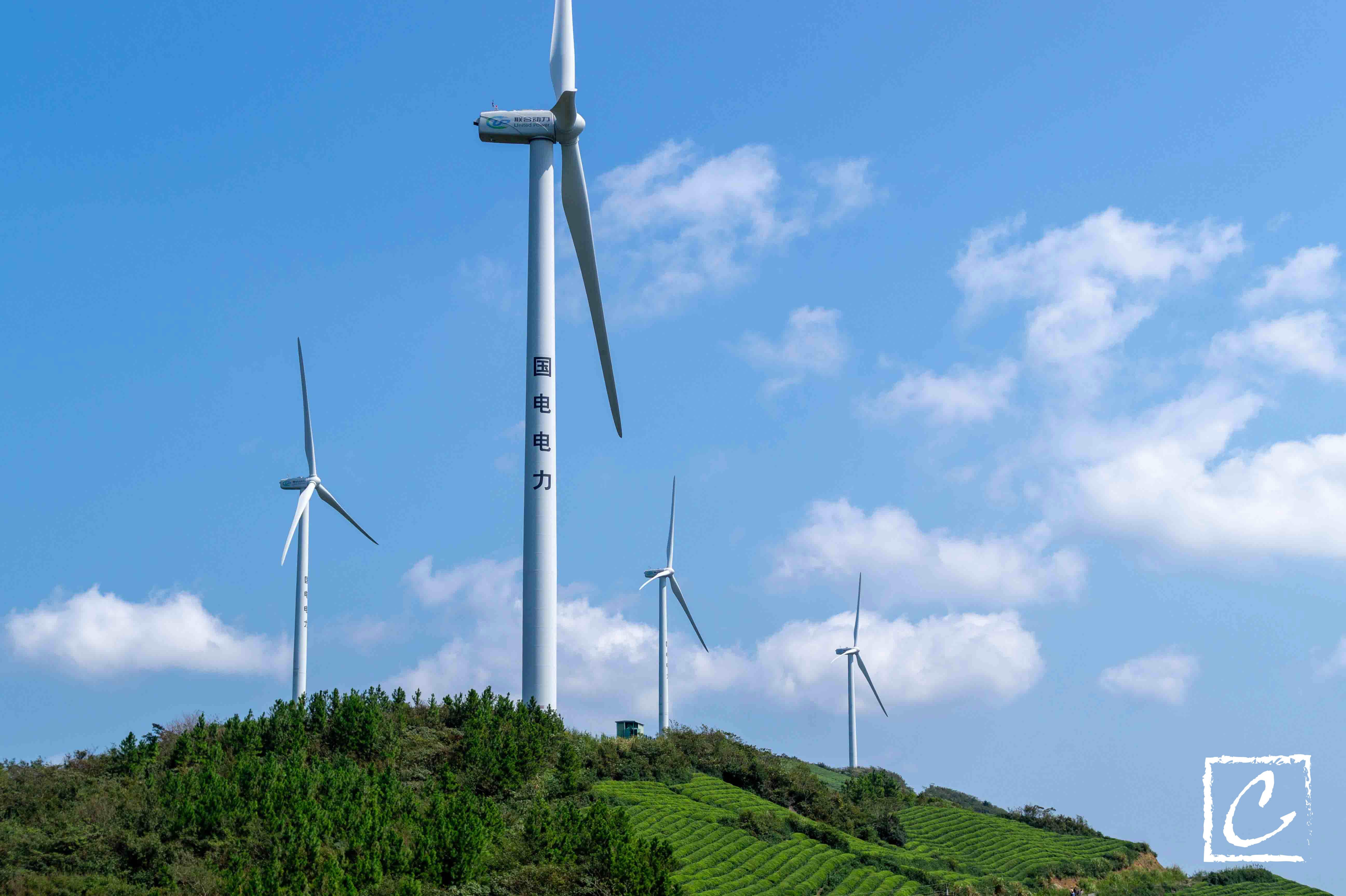 高空中的风电场是怎样一番景色